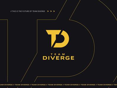 Team Diverge Logo Branding branding and identity brand design brand identity branding identity wordmark gaming logo gaminglogo gaming design vector illustration esportslogo esports logos logo clean logo branding esports logo esports