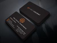 First Ascent business card