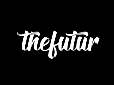 THEFUTUR CALLIGRAPHY STYLE LOGO CONCEPT adobe branding animation vector illustration product design illustrator theme thefutur typography