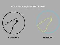 Wolf Sticker/Emblem Designs