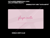 Dribble Player Invite Card Design Concept
