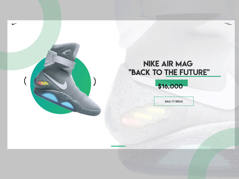 a52be4ac52dc Nike Shoes Website Design Concept Airmags by Half Wave Studios ...