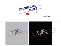 Tropical Mint Sweet Typography Redesign Concept