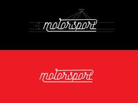 Motorsport Monoline Typography Design Concept