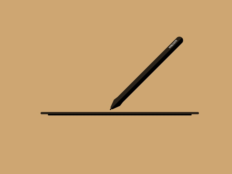 Wacom Tablet And Pen Design ui flat web app ux icon logo app design page website branding animation vector illustration adobe product design illustrator wacom typography