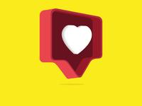 Like Button  3D illustration