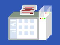 Mac Os File manager illustration