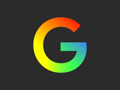 Google Full Gradient Logo Concept