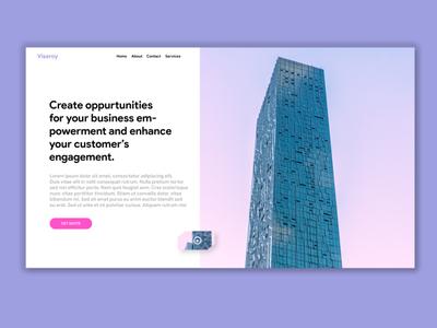 CUSTOM AGENCY LANDING PAGE CONCEPT page adobe branding animation illustration product design illustrator typography landingpage