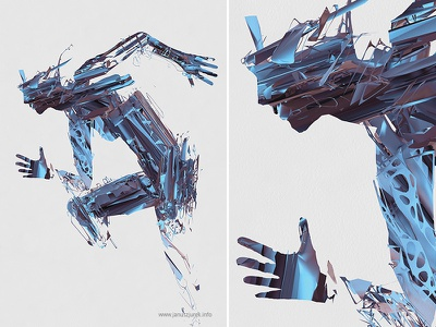 People from Jupiter draw lines jurek procedural illustration generative 3d