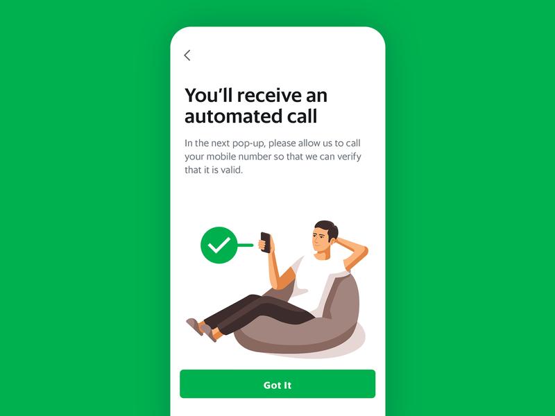 Call Verification 📞 chill beanbag relax phone illustration verification verify call