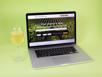 Wine Portal Site website valley vineyard design identity logo branding portal wine