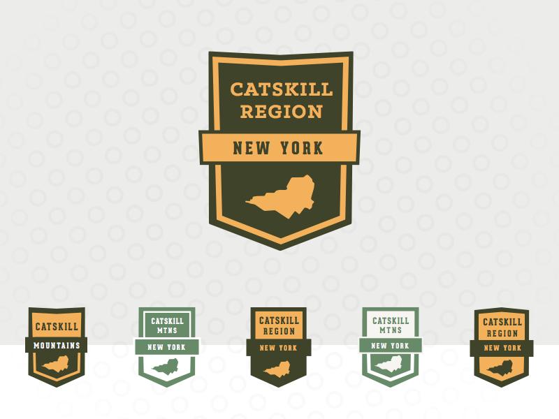 Catskill Mountain Badges catskill retro sticker ranger new york mountains hiking catskills camping camp badges patch