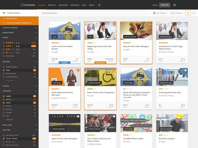 Marketplace Filters and Search Results card grid cards sidebar results marketplace ecommerce find result filter facet search