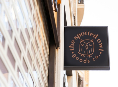 The Spotted Owl Goods co. branding
