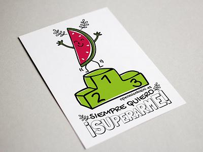 ¡Siempre quiero superarme! vector spain information illustration graphics design