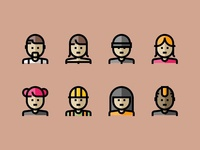People & Avatar Icons Set - Pixelar