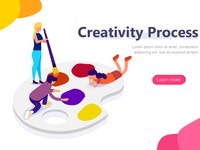Creativity Process  landing page