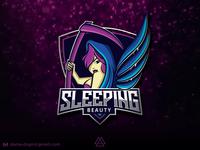 SLEEPING BEAUTY eSport Mascot Logo