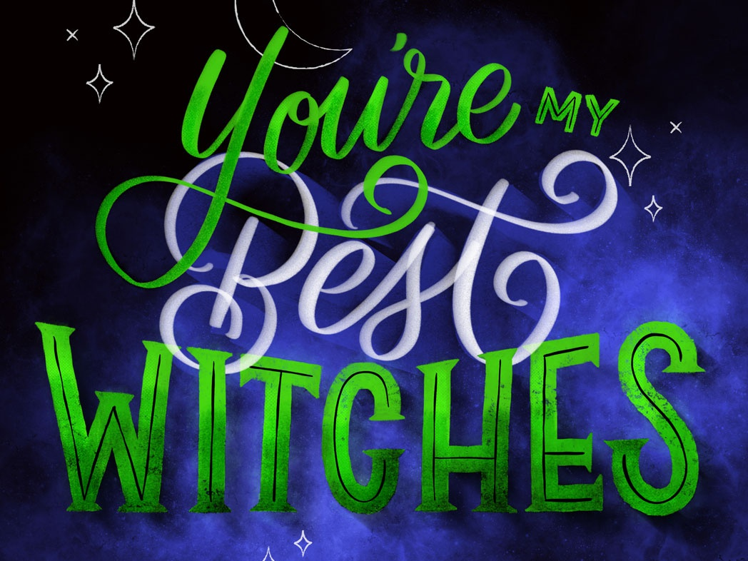 Best Witches lettering typography homwork illustration hand lettering design