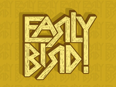 Early bird type design vector typography logo lettering creatives calligraphy