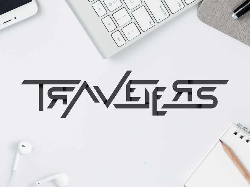Travelers type vector typography logo design creatives calligraphy lettering
