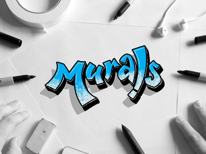 Murals murals logo vector typography type lettering design creatives