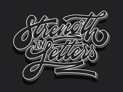 Strength in Letters custom lettering logotype goodtype calligraphy type vector hellotype typography design lettering creatives