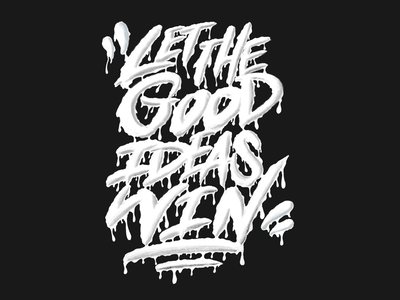 Good Ideas logotype lettering drippy typography typo design illustration type sketch hand lettering