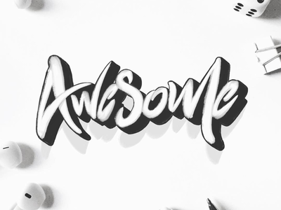 Awesome design creatives typography brush type 3d typo lettering logotype