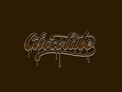 Chocolate design logo type gang custom type script typography lettering chocolate