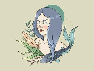 Pisces illustration zodiac sign pisces