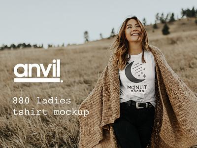 Anvil T-Shirt Model Photography Mockup anvil design mockup design resource outdoors nature mock-up shirt tee t-shirt mockup