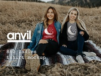 Two Friends - Anvil 880 T-shirt Moonlit Mocks Dribbble