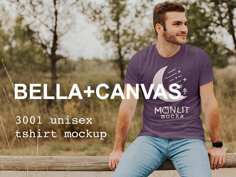 6a0cf961 Bella Canvas 3001 Tshirt Mockup bella canvas t-shirt tee product mockup  apparel design nature