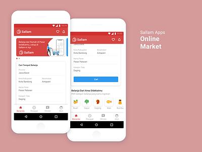 Online Market Application ui design mobile app mobile app design design app apps design app ux design ui ui  ux design