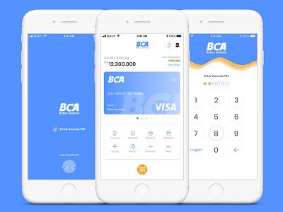 Redesign - BCA Mobile Banking (Concept) inspiration design portofolio mobile ui design uiux designer ui designer ui design mobile app design mobile app iphonex ios design flat design app app web illustration design ui ux apps design ui  ux design