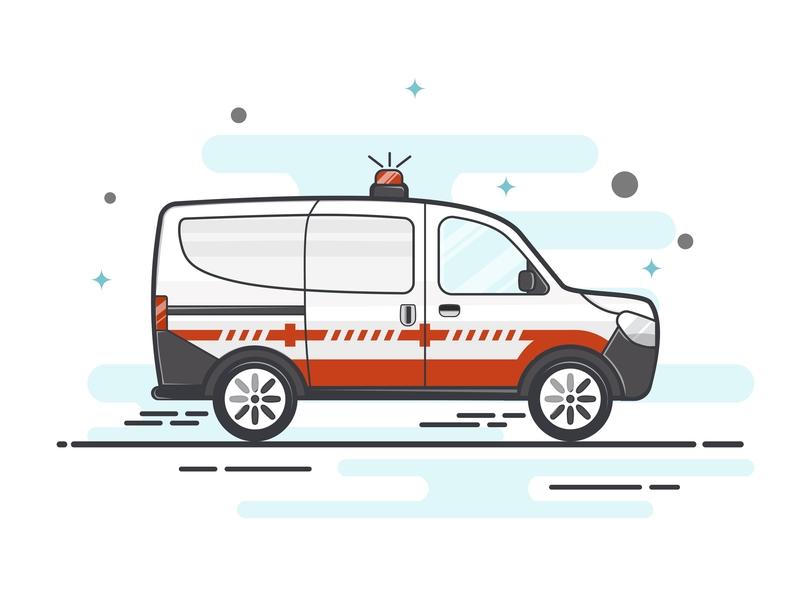 Ambulance icon design icons flat illustrator illustration art illustrator designs ambulance sketch sketchapp flat design flatdesign designer design app illustration vector design
