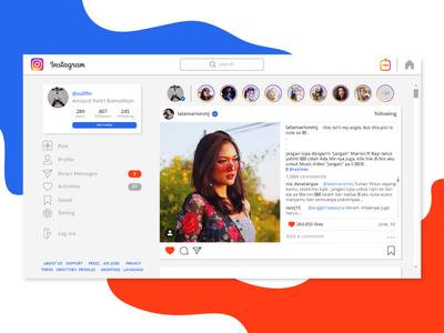 Instagram Web UI Re-design (1) socialui socialmedia instragram ux  ui websitedesign websiteui webdesign webui web uidesign uiux ui