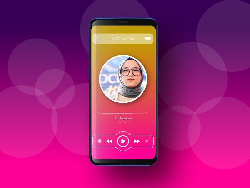 Music App UI mobileapps mobileapp mobileappdesign gradient color app ux  ui ux uiux uidesign ui