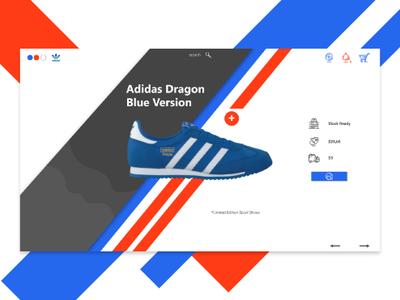 Adidas Online Shop e-commerce e-commerce theme e-commerce shop online online shop website landing page design uidesign