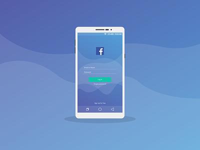 Facebook Log In Mobile Ui Design design ui app illustration socialmedia uiux ux  ui mobileapp uidesign