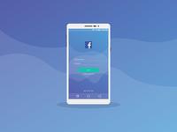 Facebook Log In Mobile Ui Design