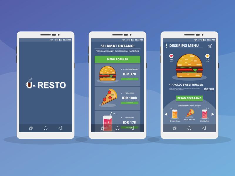 U-Resto Mobile App UI Design ux design ui app ux  ui mobileapp uiux uidesign