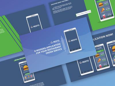 U-RESTO Presentation presentation design presentation mobileapp