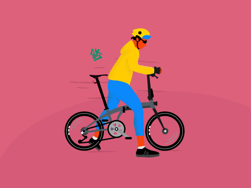 Bike To Work 2.0 flat vector illustration design