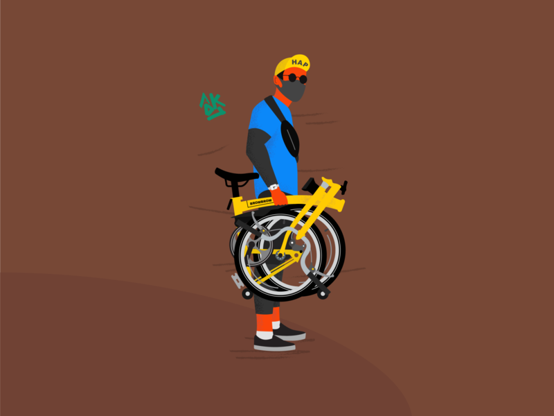 Bike for fun in Saturday flat illustration design