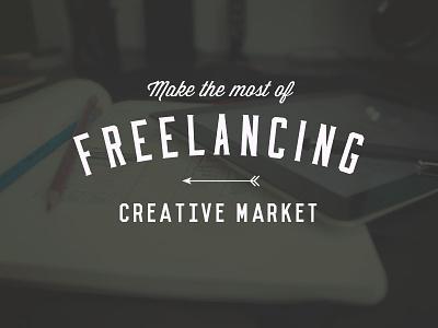Freelancing Tips typography vintage logo