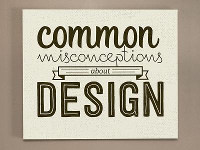 Common Misconceptions typography design creative market