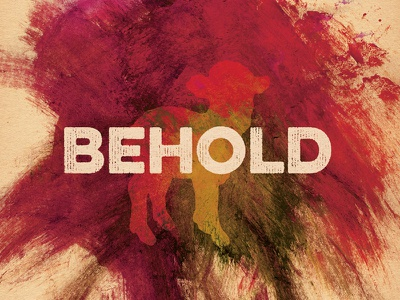 Behold typography christmas holiday watercolor brushes